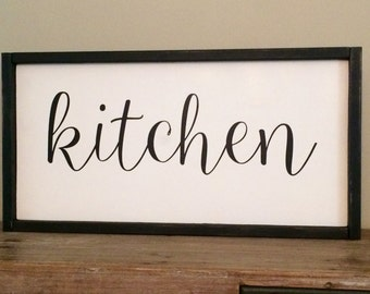 Kitchen Wood Sign/Kitchen Decor/Farmhouse
