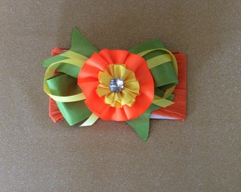 You deademas wide with flower green/orange yellow neon yellow neon/pink / blue/green / marine