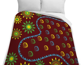 African Twin Duvet Cover