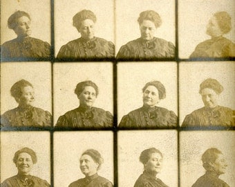 Vintage Photography 1910 Uncut Contact Sheet Photobooth