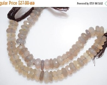 45% OFF Natural Gray Chalcedony Faceted Rondelle Beads 5 Inch Strand ,Grey Chalcedony Rondelle Beads , 8.50-9.50 mm - MC295