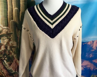 Studded Golf Sweater