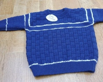 Blue White Jersey, boys sweater, sweater, sweater, blue sweater in relief