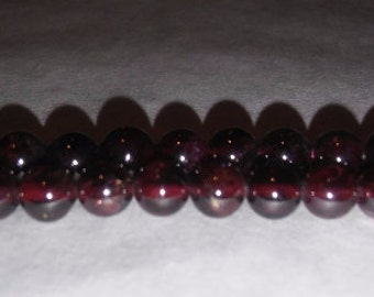 Garnet beads natural garnet dark red beads dark brown beads 6mm round beads 6mm stone beads