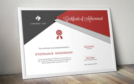 Script Triangle Corporate Certificate Template For MS Word