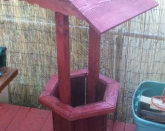 Wooden Wishing Well that I made up for fun, Wooden Wishing Well, Yard Decoration