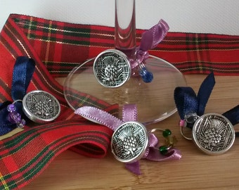 Scottish Wine Glass charms (Set of 4)