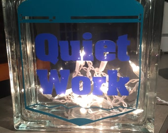 Quiet Time Glass Cube
