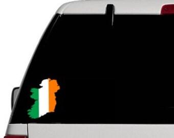Ireland Silhouette Flag Decal