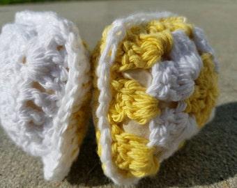 Yellow and White Granny Square Pincushions