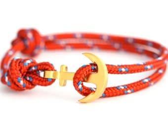 Anchor bracelet monkfish / gold