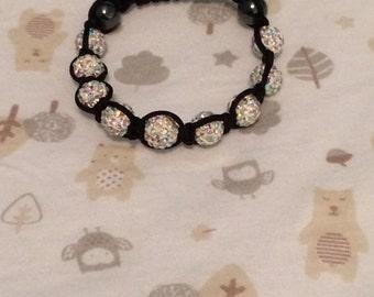 White/AB shamballa bracelet