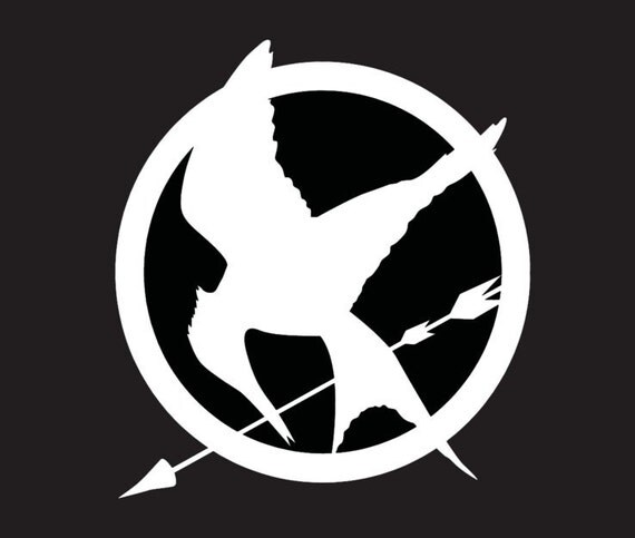 Mockingjay Logo Black And White Hunger Games Mockingja...