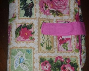 Girl Nappy change mat clutch / Diaper Wallet