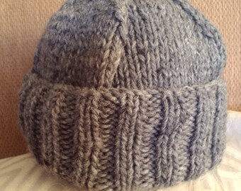 Hand-knitted wool beanie