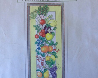 Vickery Collection Fruits and Veggies counted cross stitch kit  sealed