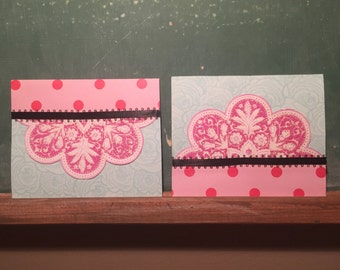 Set of 2 Topsy-Turvy Alice Cards (Blank)