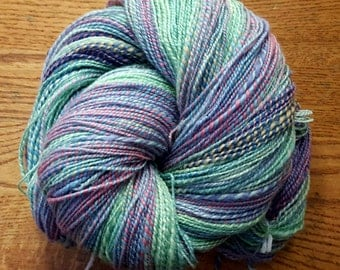 Handspun Yarn/2-ply Worsted to Chunky Weight/562 Yards/12wpi/BFL Wool Top/Multicolored Pastels