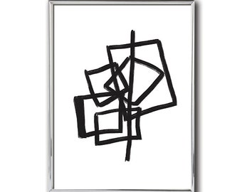 Abstract #9 Art | Modern Abstract Print | Black and White Abstract | Minimalist Art