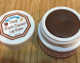 Deep Dark Cacao Lip Balm - 92% organic