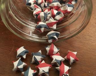 100 Patriot origami stars