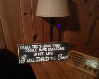 engraved wood fathers day sign