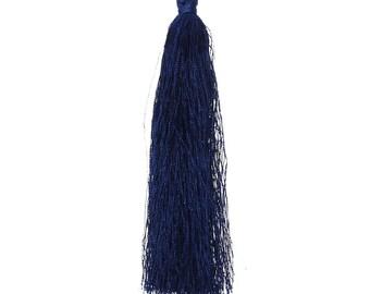 90 mm - Tassel Blue Blue Pompon