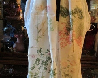 Silk scarf with beautiful flowers