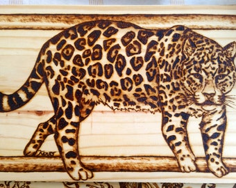 Jaguar Woodburning