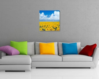 Field of Sunflowers Printed Wall Art