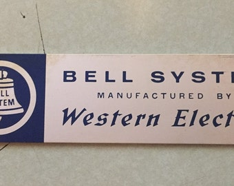 Bell System Logo Plate from the AT&T Indianapolis 4ESS Toll Switch - Very Rare