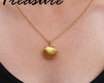 Seashell Locket | Pick Your Pearl Treasure