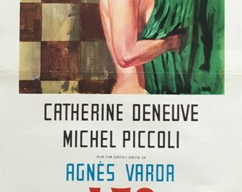 THE CREATURES 1966 original 1969 (first release in italy) italian movie poster (13x27 1/2) Starring Catherine Deneuve