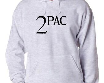 2Pac Black Logo Hoodie Classic Hip Hop Rap TuPac Rapper Makaveli Thug Life New Vintage Style New Sweatshirt Tupac Shakur