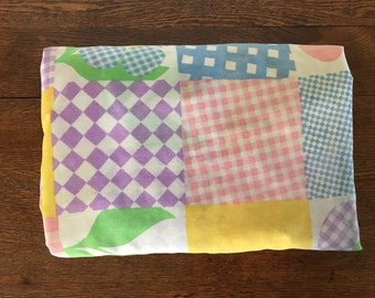 Vintage Patchwork Full Fitted Sheet Fabric