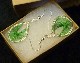 Emerald Green Peruvian Weave Earring