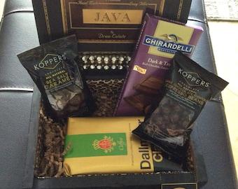Coffee theme cigar box, custom made to order