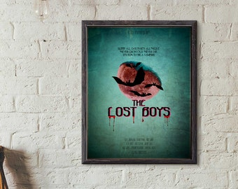 The Lost Boys Cult Movie Print, Retro Movie Poster  Pop Culture, Mid Century, TV Movie, Advertisting Poster, Digital Download