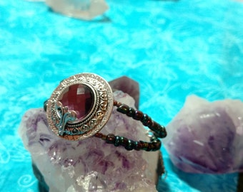 Amethyst Inspired Cuff Bracelet