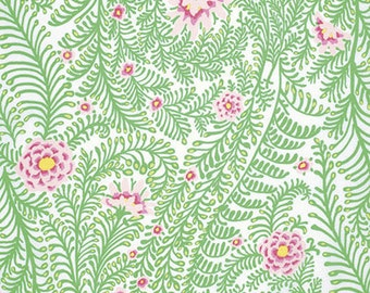 Kaffe Fasset collection, Ferns, white, 1/4 yard increments