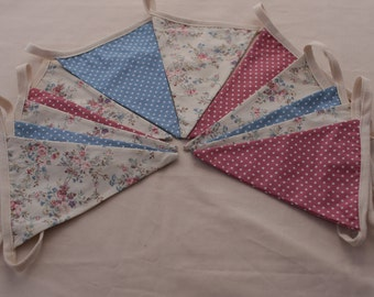 Fabric double sided bunting