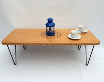 1979 Unique Vintage Retro Old Wooden Coffee Table
