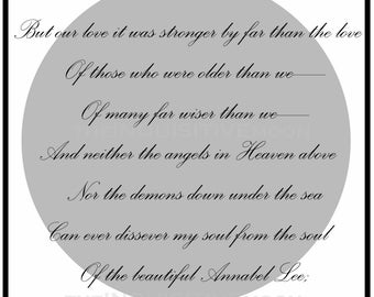 Annabel Lee - Edgar Allan Poe Digital Download