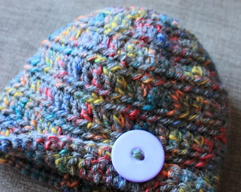Hand Crocheted Multicolor Tobaggon