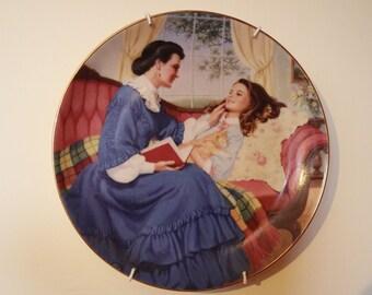 Little Women 'Marmee & Beth' Collector's Plate.  Louisa Alcott
