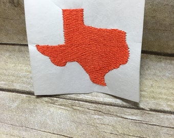Texas Embroidery Design, Texas Embroidery Design Filled In