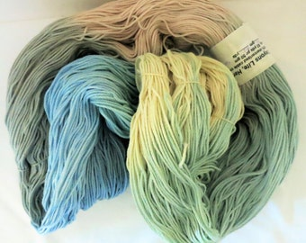 Hand Dyed Mercerized Cabled Cotton - CRAYONS LITE - from Rainbow Mills - 494 gram - 918 yards