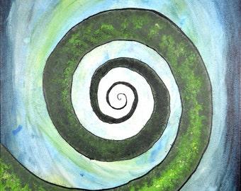 Original Acrylic Painting - SpralingDowwwn