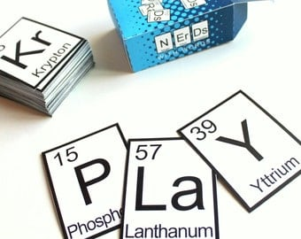 Instant Download Geek Up! Nerds with Words Game - Periodic Elements Game - PDF FILE