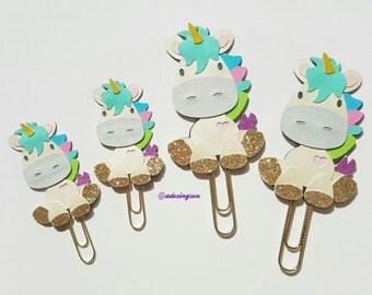 Glittery Unicorn Planner Paper Clip